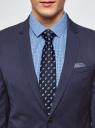 Пиджак приталенного силуэта с нагрудным карманом oodji для мужчины (синий), 2L420217M/47725N/7800O