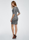 Платье трикотажное облегающее oodji #SECTION_NAME# (серый), 14001121-3B/16300/1029L - вид 3