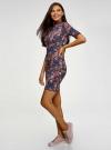 Платье трикотажное с воротником-стойкой oodji #SECTION_NAME# (красный), 14001229/47420/4979F - вид 6