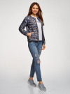 Куртка стеганая с круглым вырезом oodji для женщины (синий), 10204040-1B/42257/7919F - вид 6