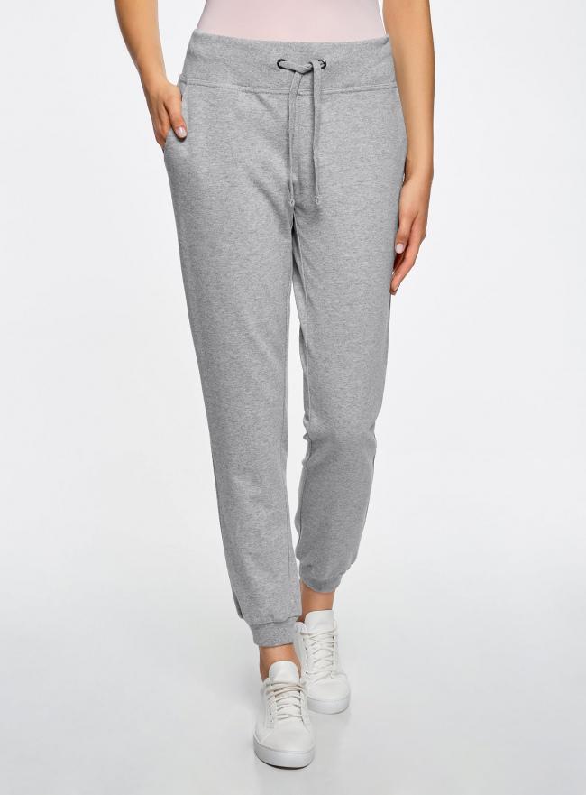 Комплект трикотажных брюк (2 пары) oodji #SECTION_NAME# (серый), 16700030-15T2/47906/2300M