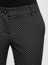 Брюки укороченные со стрелками oodji для женщины (черный), 21706025/46050/2912G