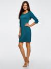 Платье трикотажное из фактурной ткани oodji #SECTION_NAME# (синий), 24001100-6/45351/7400N - вид 6