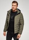 Куртка утепленная с капюшоном oodji #SECTION_NAME# (зеленый), 1B112036M/49421N/6600N - вид 2