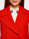 Жилет удлиненный с объемными лацканами oodji для женщины (красный), 22305003/38095/4500N - вид 4
