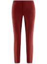 Брюки укороченные на эластичном поясе oodji для женщины (красный), 11706203-5B/14917/4900N