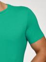 Футболка мужская oodji #SECTION_NAME# (зеленый), 5B621002M/44135N/6500N - вид 5