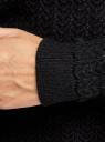 """Джемпер вязаный """"в косичку"""" oodji для женщины (черный), 63807350/49316/2900N"""