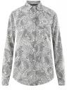 Блузка прямого силуэта с нагрудным карманом oodji #SECTION_NAME# (белый), 11411134-1B/48853/1229E