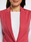 Жилет классический из фактурной ткани oodji для женщины (красный), 12300099-6/46373/4533D - вид 4