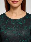 Платье трикотажное с вырезом-капелькой на спине oodji #SECTION_NAME# (черный), 24001070-5/15640/2962F - вид 4
