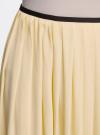 Юбка длинная с контрастным поясом oodji #SECTION_NAME# (желтый), 11600379-1/42662/5000N - вид 4