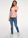Рубашка принтованная с карманами oodji #SECTION_NAME# (розовый), 13K03002-2B/45202/4110S - вид 6