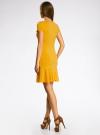 Платье трикотажное с воланами oodji #SECTION_NAME# (желтый), 14011017/46384/5200N - вид 3