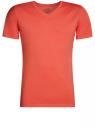 Футболка базовая с V-образным вырезом oodji #SECTION_NAME# (оранжевый), 5B612002M/39230N/4300N