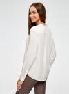 Блузка вискозная А-образного силуэта oodji #SECTION_NAME# (белый), 21411113B/26346/1200N - вид 3
