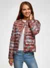 Куртка стеганая с круглым вырезом oodji #SECTION_NAME# (красный), 10204040-1B/42257/4920E - вид 2
