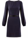 Платье вискозное с ремнем oodji для женщины (синий), 11900150-15B/42540/7900N