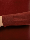 Джемпер базовый с круглым вырезом oodji #SECTION_NAME# (красный), 63812571/45576/4900N - вид 5