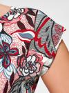 Платье трикотажное с ремнем oodji #SECTION_NAME# (разноцветный), 24008033-2/16300/4512F - вид 5
