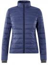 Куртка с трикотажными манжетами и воротником-стойкой oodji #SECTION_NAME# (синий), 10204056/47172/7800N