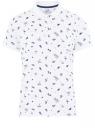 Поло принтованное из ткани пике oodji для мужчины (белый), 5L412007I-3/46737N/1079G