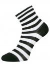 Комплект из трех пар хлопковых носков oodji для женщины (разноцветный), 57102807T3/47613/17