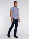 Рубашка клетчатая с коротким рукавом oodji #SECTION_NAME# (синий), 3L210030M/44192N/1079C - вид 6