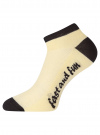 Комплект из трех пар укороченных носков oodji #SECTION_NAME# (разноцветный), 57102605T3/48022/19