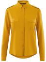 Блузка базовая из вискозы с нагрудными карманами oodji #SECTION_NAME# (желтый), 11411127B/26346/5200N