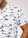 Рубашка принтованная с коротким рукавом oodji #SECTION_NAME# (белый), 3L400004M/48205N/1075G - вид 5