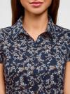 Блузка принтованная из легкой ткани oodji #SECTION_NAME# (синий), 21407022-7M/12836/2919F - вид 4