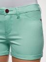 Шорты джинсовые стретч с отворотами oodji #SECTION_NAME# (бирюзовый), 12807082B/45491/7300W - вид 5