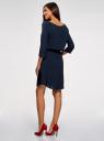 Платье вискозное с рукавом 3/4 oodji #SECTION_NAME# (синий), 11901153-1B/42540/7900N - вид 3