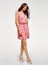 Платье вискозное без рукавов oodji #SECTION_NAME# (красный), 11910073B/26346/4330O - вид 6