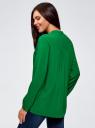 Блузка принтованная из вискозы oodji #SECTION_NAME# (зеленый), 11411049-1/24681/6B00N - вид 3