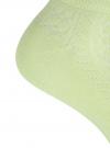 Комплект ажурных носков (3 пары) oodji для женщины (зеленый), 57102702T3/48022/16 - вид 4