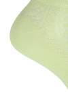 Комплект ажурных носков (3 пары) oodji #SECTION_NAME# (зеленый), 57102702T3/48022/16 - вид 4