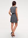 Платье вискозное без рукавов oodji для женщины (синий), 11910073B/26346/7912G