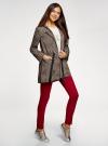 Куртка удлиненная на кулиске oodji для женщины (бежевый), 11D03006/24058/3329A - вид 6