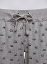 Брюки трикотажные на завязках oodji #SECTION_NAME# (серый), 16701042/46919/2329O - вид 5