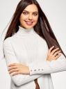 Жилет трикотажный с карманами oodji для женщины (белый), 64512026/33506/1200N