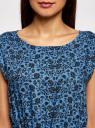 Платье принтованное из вискозы oodji #SECTION_NAME# (синий), 11910073-2/45470/7529F - вид 4