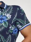 Рубашка принтованная с коротким рукавом oodji #SECTION_NAME# (синий), 5L301004M/46547N/7910F - вид 5