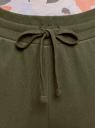Брюки трикотажные на завязках oodji для женщины (зеленый), 16701055B/47999/6800N