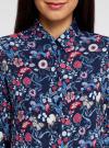 Блузка принтованная из вискозы oodji #SECTION_NAME# (синий), 11411098-3M/24681/7945F - вид 4