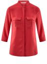 Блузка вискозная с регулировкой длины рукава oodji #SECTION_NAME# (красный), 11403225-3B/26346/4500N