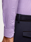 Рубашка extra slim в мелкую клетку oodji #SECTION_NAME# (фиолетовый), 3B140003M/39767N/8010C - вид 5