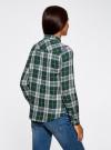 Рубашка в клетку с нагрудными карманами oodji #SECTION_NAME# (зеленый), 11400433/43223/6912C - вид 3
