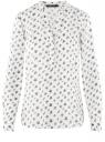 Блузка вискозная прямого силуэта oodji #SECTION_NAME# (белый), 21400394-1B/24681/1229O